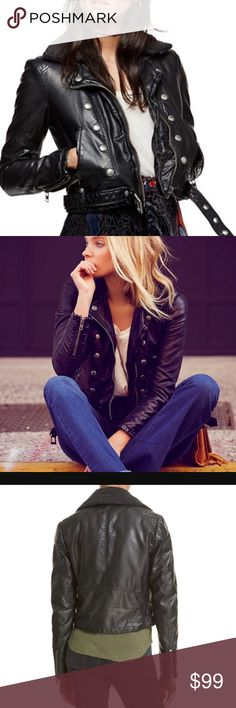 Free People Asheville Vegan Leather Jacket! Sold out everywhere! This jacket is amazing! Free People Jackets & Coats
