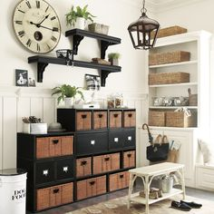 Abbeville Large 5-Compartment Stacking Cabinet with Baskets