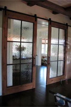 Rustic barn doors inside the house! Love these farmhouse style sliding barn doo., Rustic barn doors inside the house! Love these farmhouse style sliding barn doors in this gorgeous dream home. House Design, Door Design, House, Home Remodeling, New Homes, Doors Interior, Diy Door, Inside Barn Doors, Rustic House