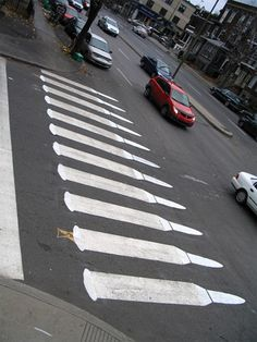 Crossing 03  Pedestrian Street Art by Peter Gibson
