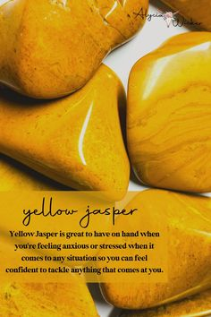 Yellow Jasper is great to have on hand when you're feeling anxious or stressed when it comes to any situation so you can feel confident to tackle anything that comes at you.