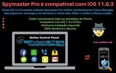 Faixa iOS 11.0.3 usando software Spymaster Pro melhor monitoramento. Faixa whatsapp bate-papos, ver mensagens de facebook e muito mais. Obter o melhor software espião.#Rastreamento #espionagem #espião #espiãoiPhone #telefonecelular #monitorização #Celular #softwareespião #monitoria #Hack #HackiPhone8 #iOSdeespião11 #iPhonefaixa8 #iOSdefaixa11 #iOSdehack11