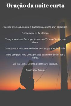 Oração da noite curta #oração #noite #dormir