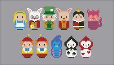 Alice in Wonderland - Mini People - Pattern by CloudsFactory