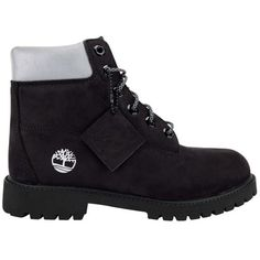 Timberland Kids 6 Inch Premium Boot Grade School ($110) ❤ liked on Polyvore featuring shoes, boots, sneakers, timberlands and black