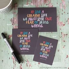 Free Project Life Pocket Cards