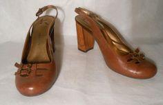 Report Brown Leather Taylor Slingback Shoes Heels Sz 8.5 http://www.ebay.com/itm/251389003225?ssPageName=STRK:MESELX:IT&_trksid=p3984.m1555.l2649