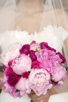bouquets de fleurs roses