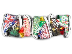 "Converse Chuck Taylor ""Fly Your Flag"" All-Star Collection: USA, UK, Brazil..."