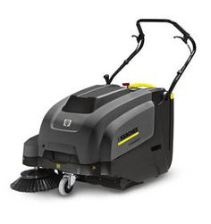 Karcher's KM 75/40W BP is the pinnacle of commercial-duty sweepers. Coming standard with maintenance free AGM batteries and an on-board charging system, the KM 75/40 W BP is self-propelled traveling up to 2.8 MPH and can climb an incline of up to 12%. The standard filter system is 99.5% efficient preventing fine dust particles from re-entering the environment utilizing a large suction fan and synthetic pleated filter.