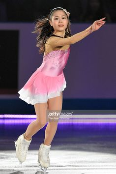 Satoko Miyahara of Japan performs in the exhibition during the day four of the ISU World Team Trophy at Yoyogi National Gymnasium on April 19, 2015 in Tokyo, Japan.