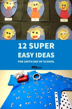 Easy peasy ideas to celebrate the day of school. Pto Today, 100 Days Of School, 100th Day, Easy Peasy, Grade 1, The 100, Ideas, Products, 100 Day Of School