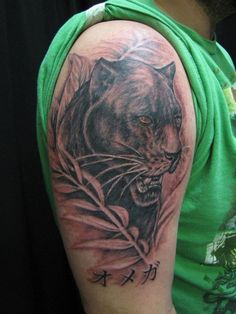 Mythical Markings Tattoo Studio. www.mythicalmarkings.org  Panther tattoo by Dale.