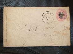 HARRISON to KEOKUK, IOWA Postal History Cover 1860's