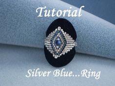 TUTORIAL Silver Blue...Ring  Bead pattern
