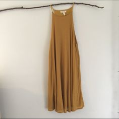 """UO Mustard Yellow Midi Dress Never worn mustard yellow dress from Urban Outfitters line """"Silence + Noise"""" also available in green Urban Outfitters Dresses Midi"""