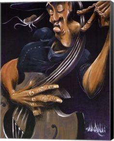 Movin' Strings Music Canvas Wall Art Print by David Garibaldi