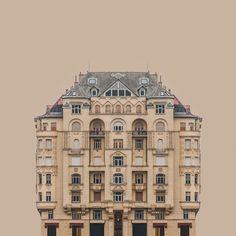 Sembra il Gran Budapest Hotel ma in realtà è la serie Urban Symmetry di Zsolt Hlinka | INSIDEART