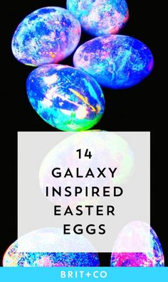 Save this to make galaxy themed Easter eggs.
