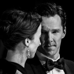 Sophie and Benedict. BAFTAs 2015 <<< I want a man who looks at me like Benedict looks at Sophie.