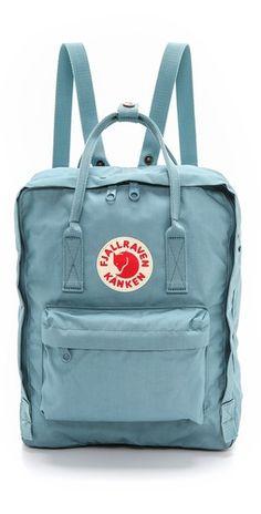 Fjallraven Kanken Backpack in Sky Blue Mochila Kanken, Backpack Purse, Kanken Backpack, Adidas Backpack, Rucksack Bag, Cute Bags, Purses And Bags, Pouch, Handbags
