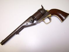 COLT M1861 NAVY REVOLVER: On the underside of the barrel are U.S. Navy inspector markings. Similar to the Richards-Mason alteration done after the Civil War for M1860 percussion revolvers, only about 2,200 of these M1861 Navy conversions were done at Colt's Hartford factory.