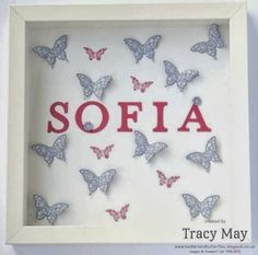 Papillon Potpourri Gift Picture Frames - using Stampin' Up! ® products - Bedlam and Butterflies