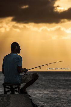 El pescador de la tarde