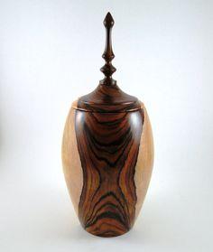 Wood Urn No120913  Cocobolo by conreysa on Etsy, $155.00