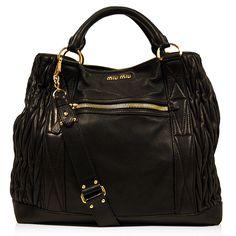 Miu Miu Black Ruched Shopping Bag http://www.consignofthetimes.com/product_details.asp?galleryid=6958