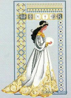 Lavender & Lace Counted Cross Stitch Chart Pattern ~ CELTIC WINTER Sale #60 #LavenderLace