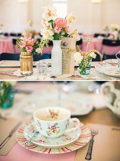 garden tea party bridal shower | Vintage Floral High Tea Bridal Shower // Hostess with the Mostess®