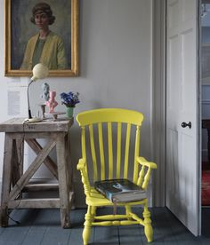 Paint an Antique Chair Vibrant Yellow