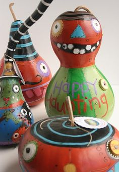 painted gourds, so colorful and fun!
