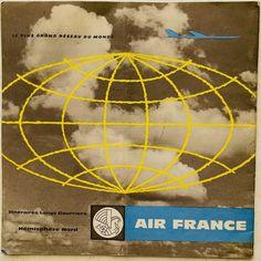 Air France, Vintage Travel, Vintage Airline, Poster, Billboard