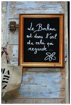 message de bonheur