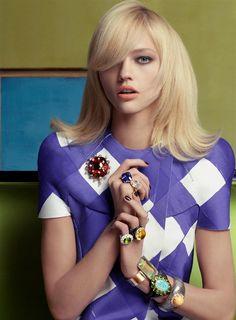 Vogue US (Mar. 2008) - A Brilliant Move by Steven Meisel with Sasha Pivovarova