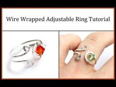 Easy Jewelry Tutorial : Wire Wrapped Adjustable Ring with Crystals. Learn how to make a simple, elegant, and adjustable ring in this wire wrapped jewelry tutorial. Toolssupplies used in video: 18 gauge dead soft silver-filled wire 24 gauge dead soft Beaded Rings, Beaded Jewelry, Handmade Jewelry, Handmade Wire, Craft Jewelry, Earrings Handmade, Jewelry Rings, Wire Jewelry Making, Jewelry Making Tutorials