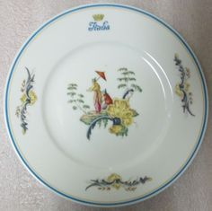 "RICHARD GINORI CHINOIS PATTERN Italian Line Italia Ocean Liner 7"" PLATE! In good condition with no chips or cracks, has signs of use (surface wear scratches which can be seen when twisted in the light), see photos."