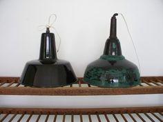 Industriele emaille lamp | Lamps | sjebbiez