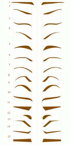 Eyebrow Shapes - everyone should know this. Great info on the link