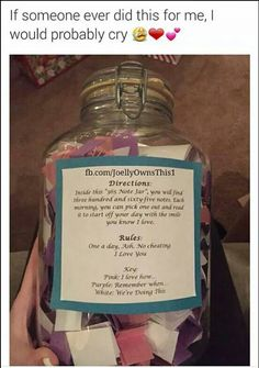 365 Jar sayings Surprise Gifts For Him, Birthday Gift For Him, Best Friend Birthday, Diy Bday Gifts For Mom, Birthday Ideas, 20th Birthday, Birthday Month, Birthday Presents, Birthday Cards