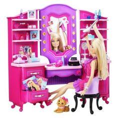 Uma História Barbie Doll: Barbie Vanity Playset na Target Barbie Doll Accessories, Doll Clothes Barbie, Barbie Doll House, Barbie Car, Barbie Stuff, Doll Stuff, Phone Accessories, Barbie Sets, Barbie And Ken
