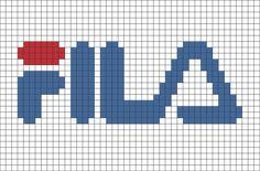 Fila Pixel Art- # Pixel - Places to Visit - Lego Graph Paper Drawings, Graph Paper Art, Pixel Art Marque, Loom Patterns, Beading Patterns, Pixel Art Logo, Cross Stitch Designs, Cross Stitch Patterns, Image Pixel Art