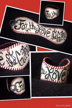 A personal favorite from my Etsy shop https://www.etsy.com/listing/225071614/baseball-cuff