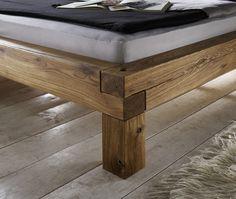 SAM® Balkenbett Ludo Massiv Holzbett Wildeiche 160 x 200 cm Bestellware !