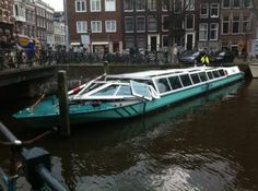 Oops :)...how not to steer a boat in Amsterdam