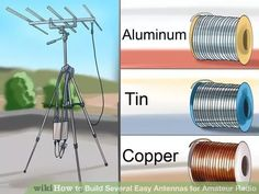 How to Build Several Easy Antennas for Amateur Radio. Amateur Radio has been a supreme way of communications for many ways of getting messages from one place to another for decades! Many antennas have been invented simply by necessity. Survival Prepping, Emergency Preparedness, Survival Skills, Emergency Radio, Survival Shelter, Homestead Survival, Radios, Dipole Antenna, Ham Radio Antenna