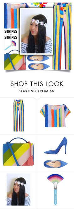 """""""Pattern Challenge: Stripes on Stripes"""" by samra-bv ❤ liked on Polyvore featuring Mara Hoffman, Mark Cross, Luciano Padovan, Spectrum and vintage"""
