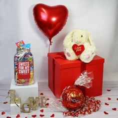 View Deluxe Valentine Gift Box Sweet Jars Cute Valentines Day Gifts Retro Sweets